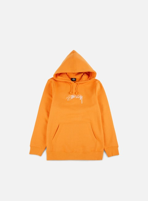 felpe stussy smooth stock applique hoodie apricot