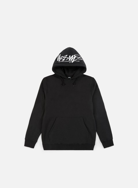 felpe stussy smooth stock applique hoodie black