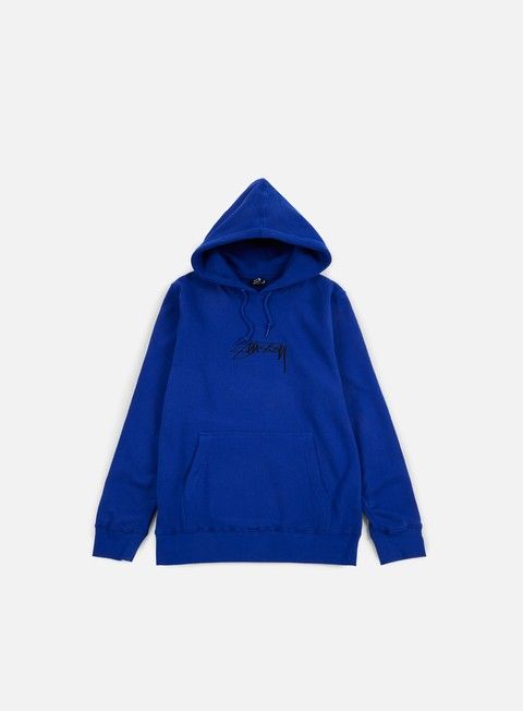 felpe stussy smooth stock applique hoodie dark blue