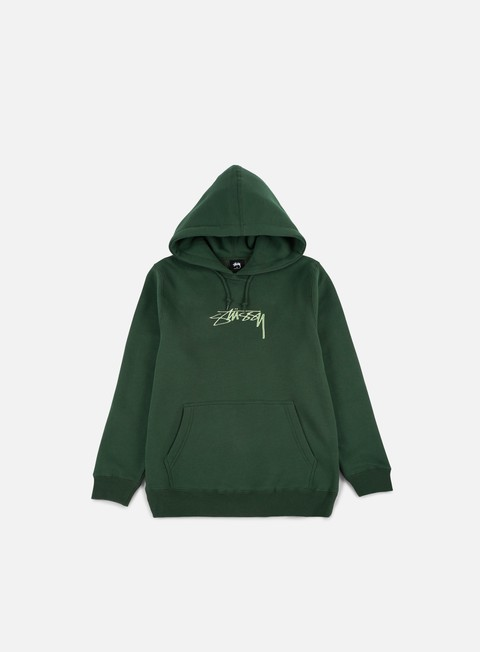felpe stussy smooth stock applique hoodie dark forest