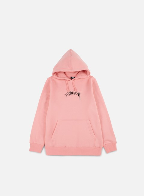 felpe stussy smooth stock applique hoodie dusty rose