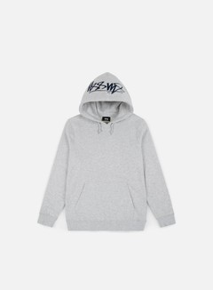 Stussy - Smooth Stock Applique Hoodie, Grey Heather