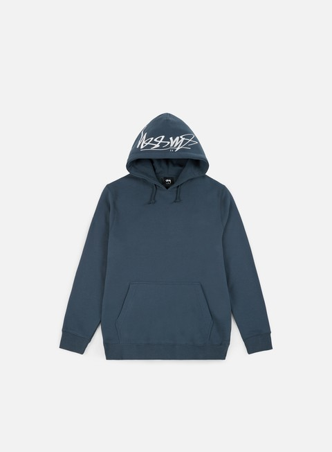 felpe stussy smooth stock applique hoodie ink