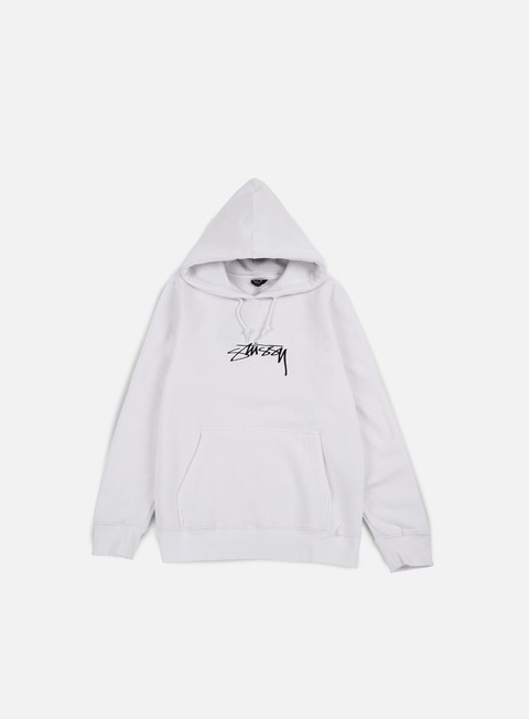 felpe stussy smooth stock applique hoodie white
