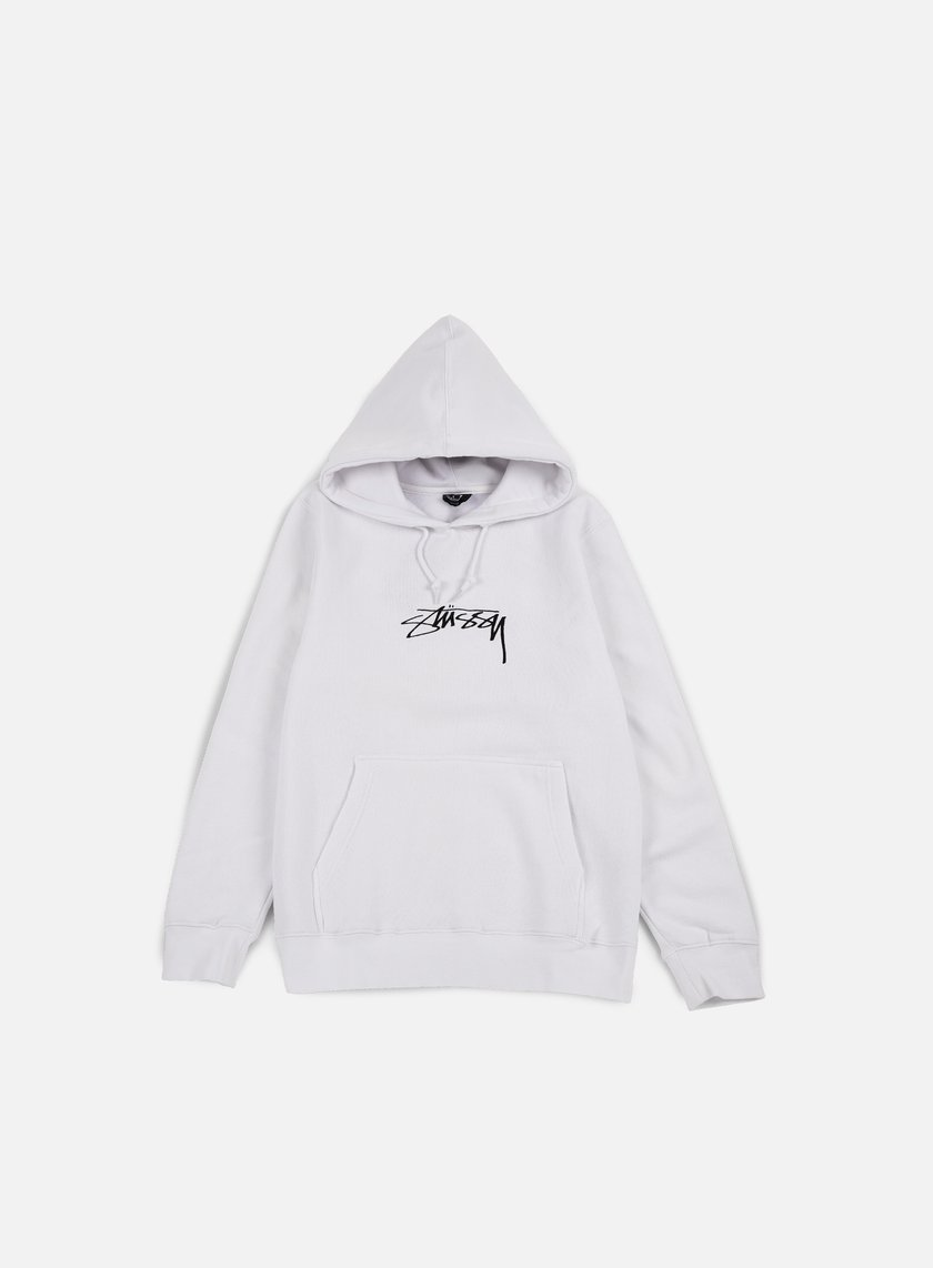 Stussy - Smooth Stock Applique Hoodie, White