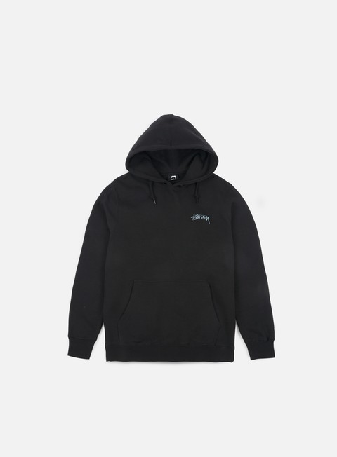 felpe stussy smooth stock hoodie black