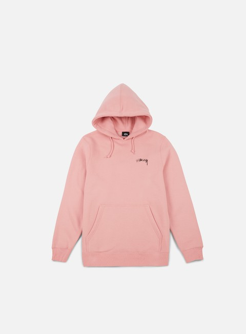 felpe stussy smooth stock hoodie dusty rose
