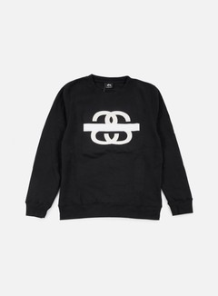 Stussy - SS Taped Crewneck, Black