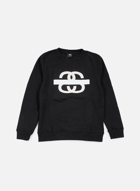 felpe stussy ss taped crewneck black