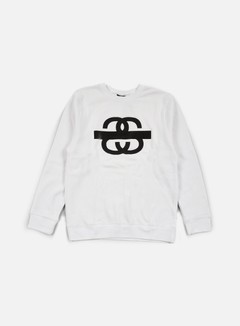 Stussy - SS Taped Crewneck, White 1