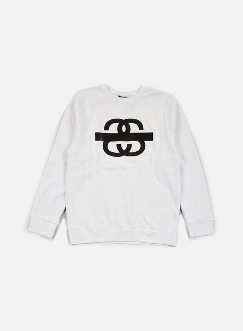 felpe stussy ss taped crewneck white