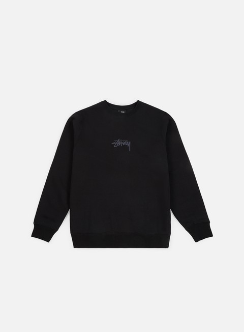 felpe stussy stock applique crewneck black