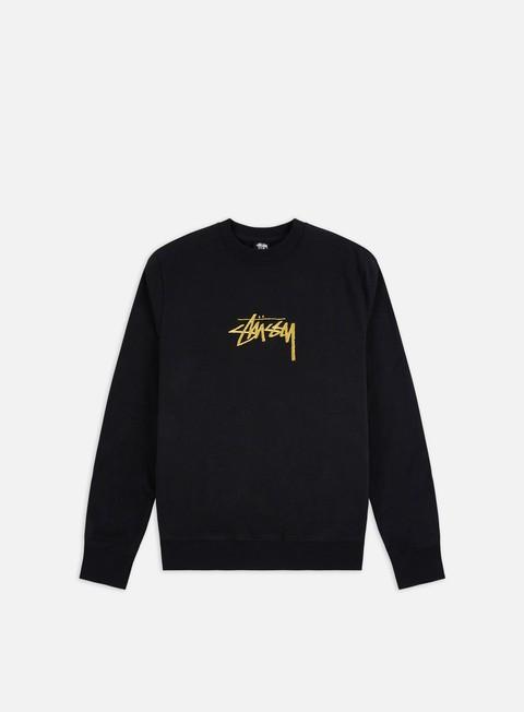 Crewneck Sweatshirts Stussy Stock Applique Crewneck