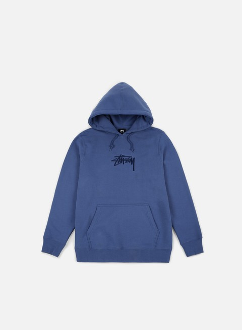 felpe stussy stock applique hoodie cool blue