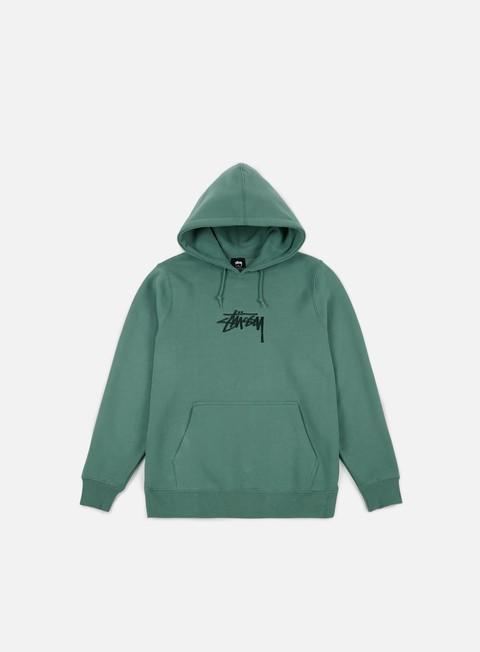felpe stussy stock applique hoodie sage