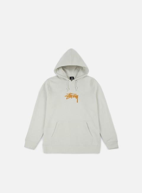 felpe stussy stock applique hoodie stone