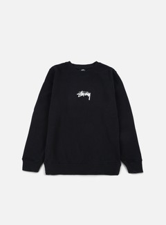 Stussy - Stock Crewneck, Black/White 1