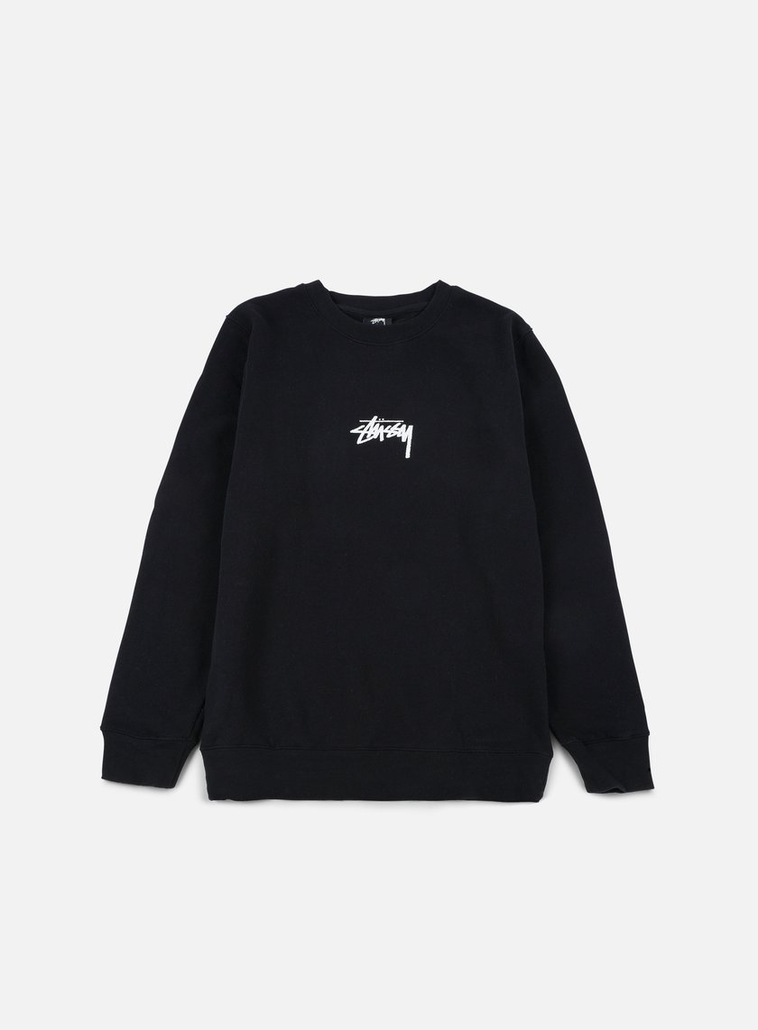 Stussy - Stock Crewneck, Black/White