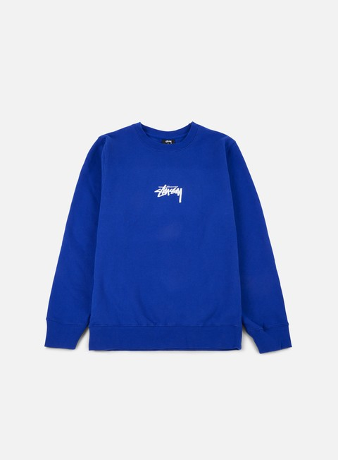 felpe stussy stock crewneck dark blue white