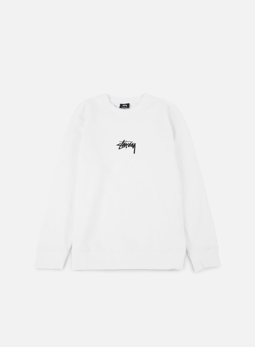 Stussy - Stock Crewneck, White/Black