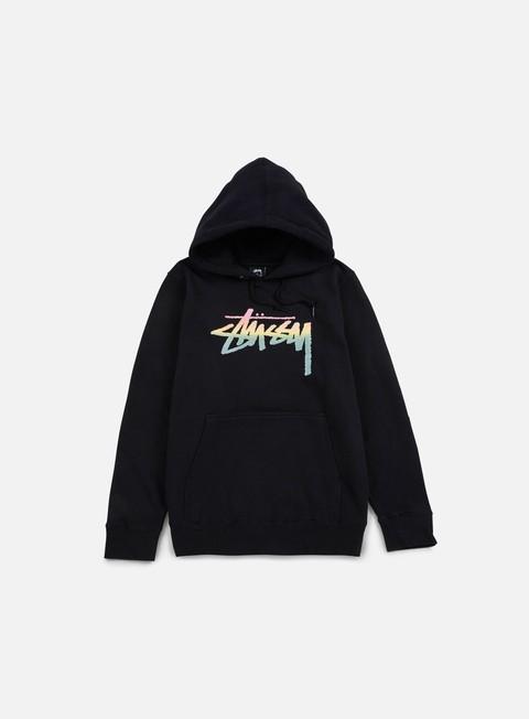 felpe stussy stock fade hoodie black
