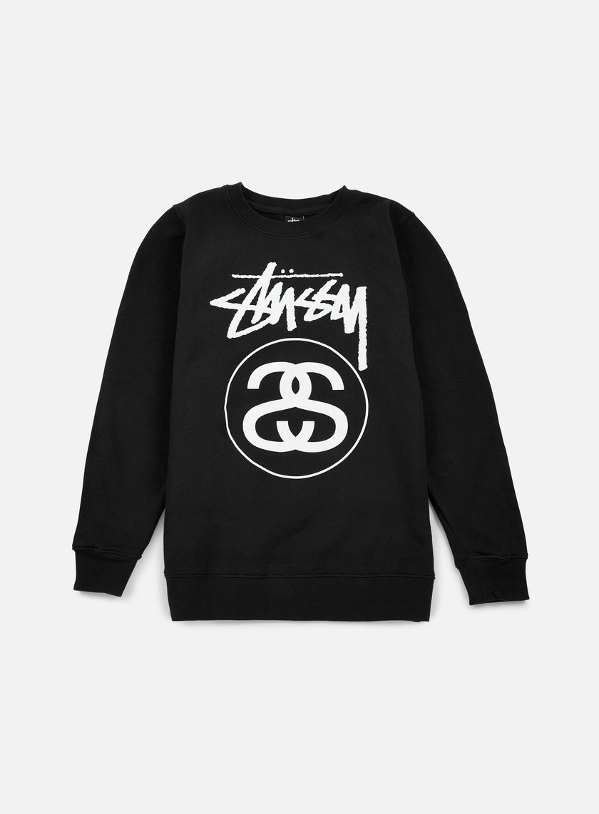 Stussy - Stock Link Crewneck, Black/White