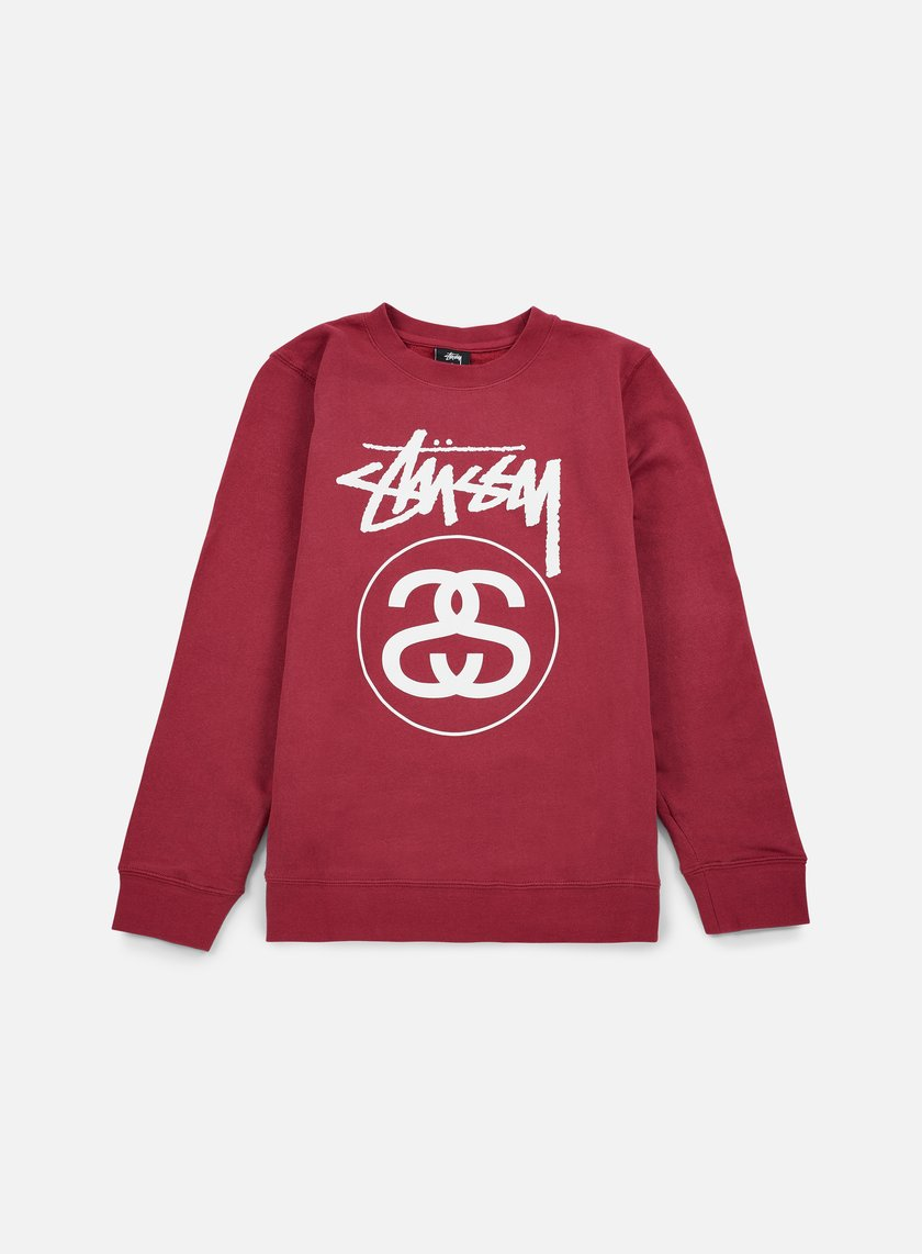 Stussy - Stock Link Crewneck, Grape/White
