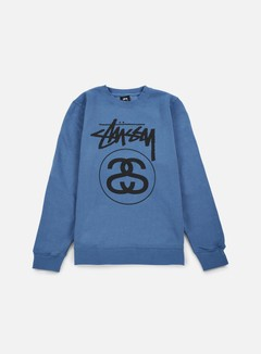 Stussy - Stock Link Crewneck, Steel/Black 1
