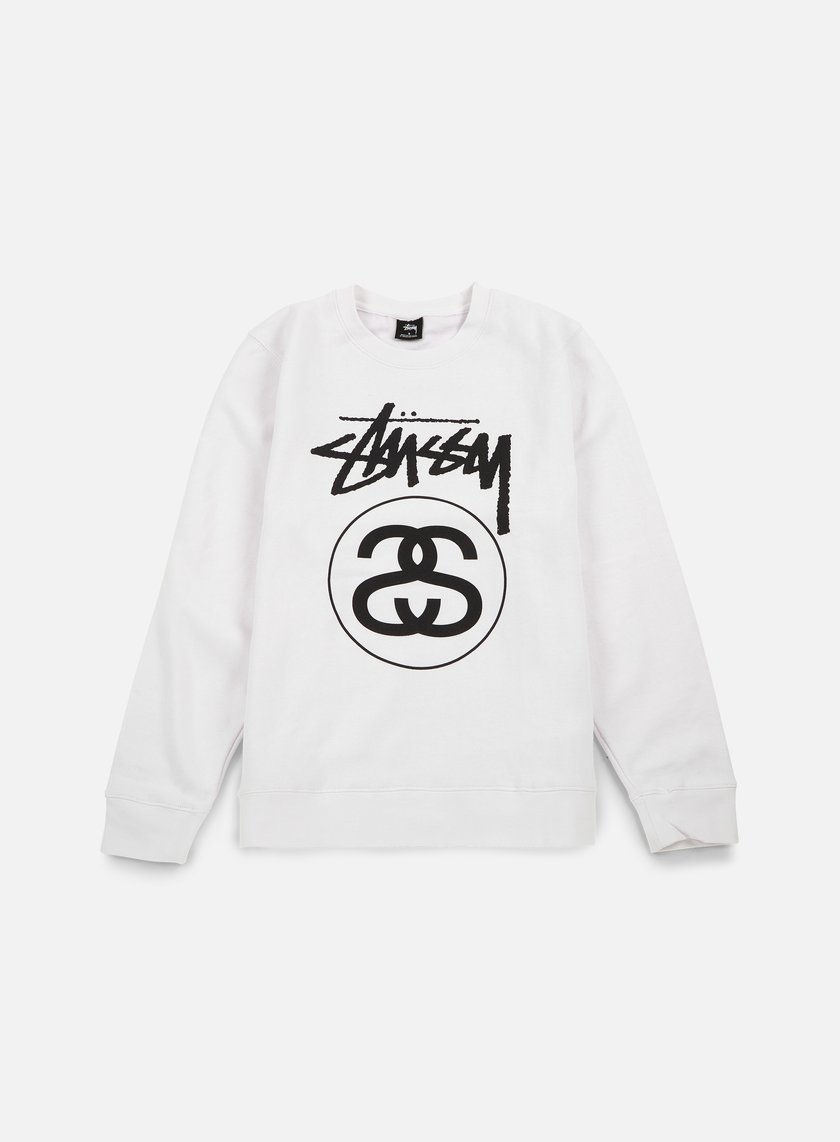 Stussy - Stock Link Crewneck, White/Black