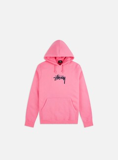 Stussy - Stock Logo Applique Hoodie, Pink
