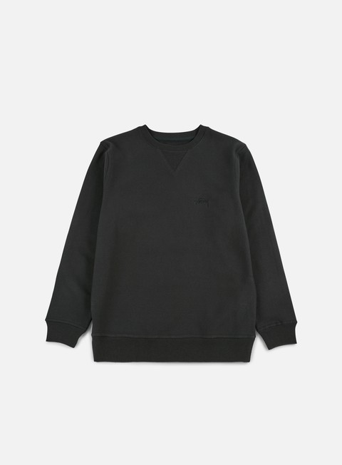 felpe stussy stock logo crewneck black