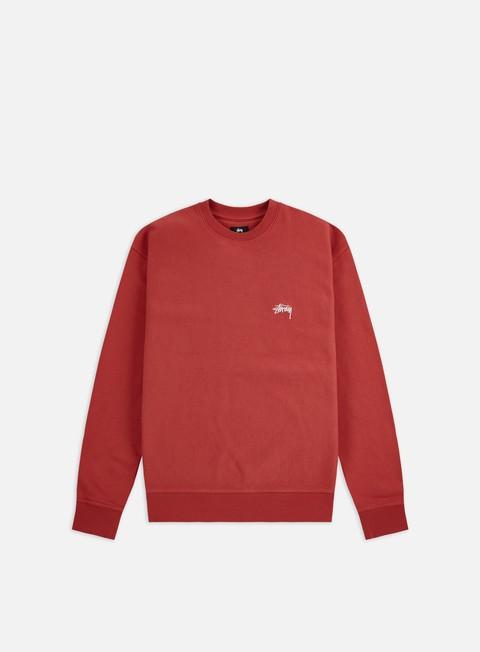 Crewneck Sweatshirts Stussy Stock Logo Crewneck