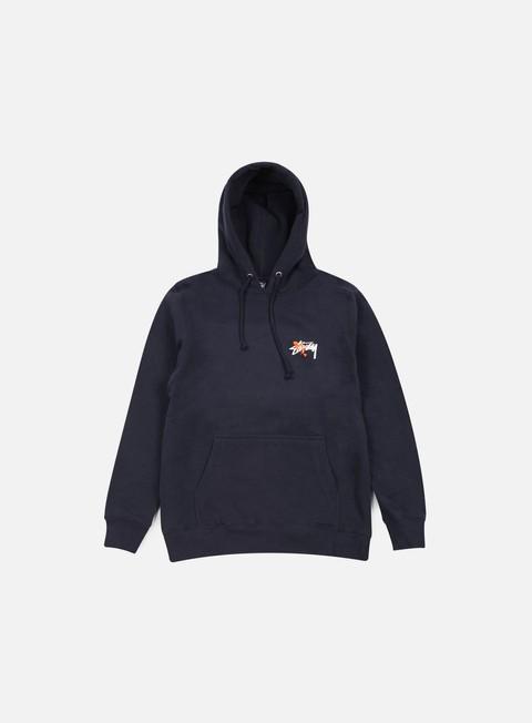 felpe stussy stock paint hoodie navy