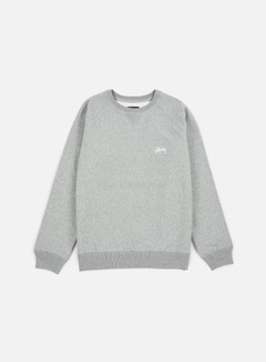 Stussy - Stock Raglan Crewneck, Grey Heather 1