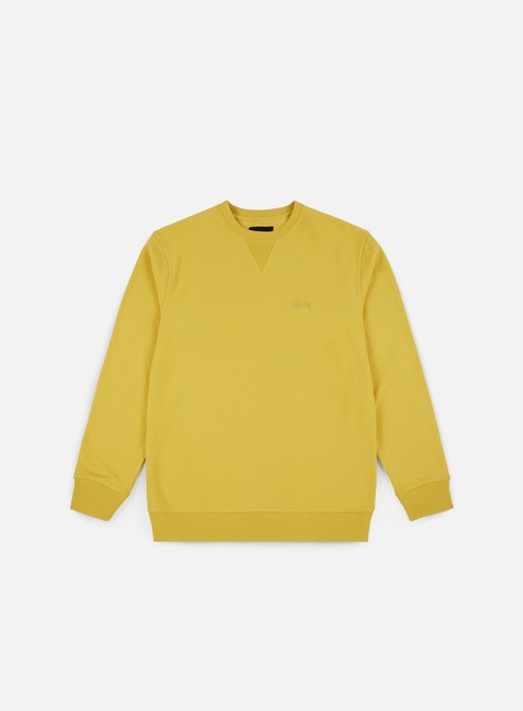 felpe stussy stock terry crewneck lemon