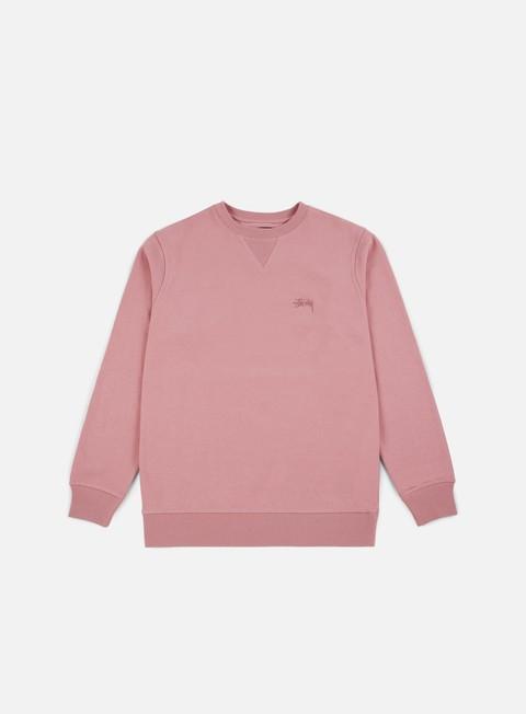 felpe stussy stock terry crewneck pink