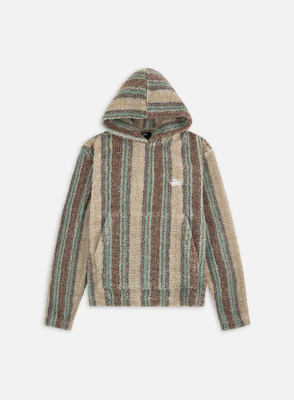 Stussy Stripe Sherpa Hoodie