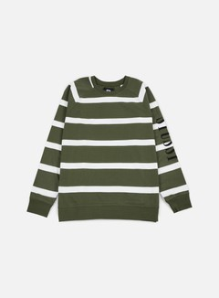 Stussy Striped Raglan Crewneck