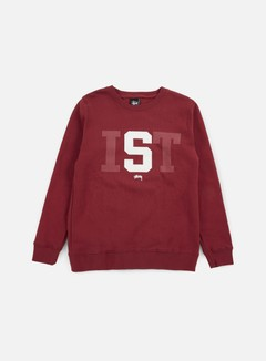 Stussy - Stussy IST Big Crewneck, Dark Red 1