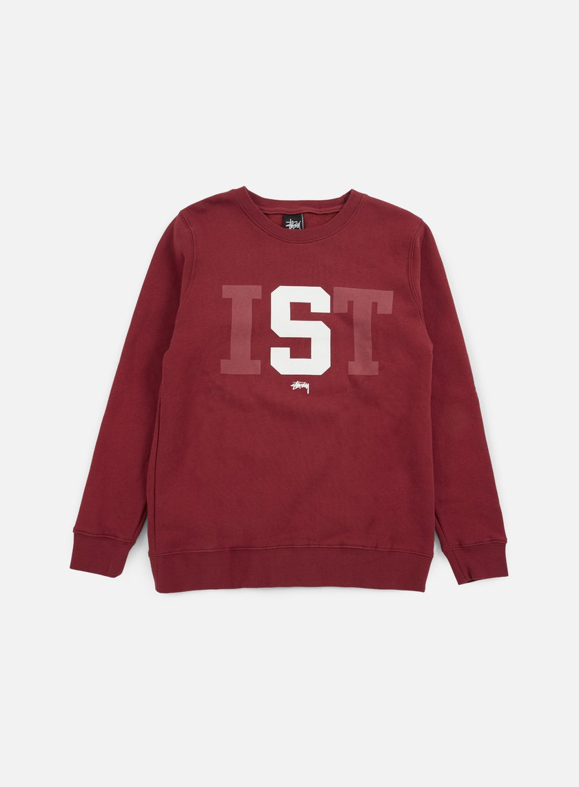Stussy - Stussy IST Big Crewneck, Dark Red