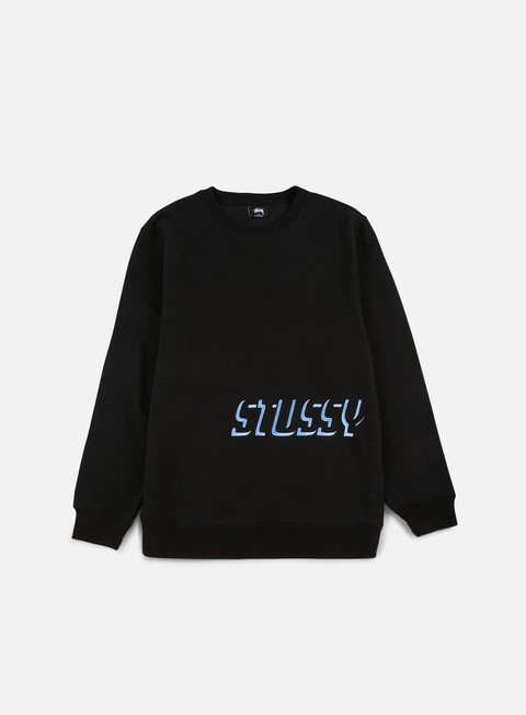 felpe stussy stussy shadow applique crewneck black