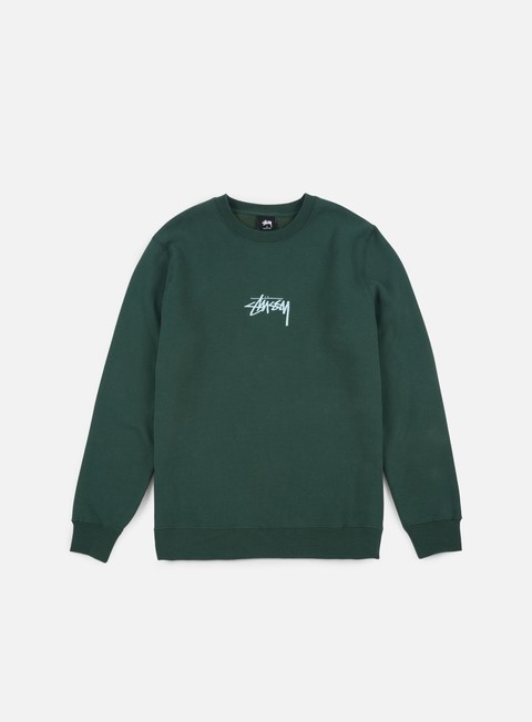 felpe stussy stussy stock applique crewneck dark forest