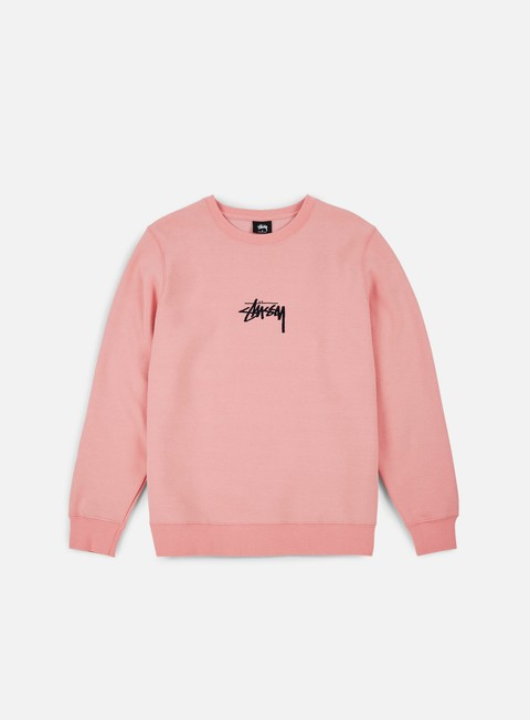 felpe stussy stussy stock applique crewneck dusty rose