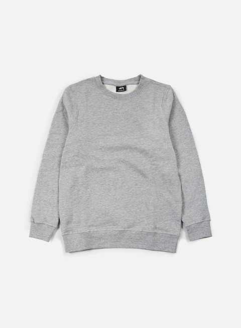 felpe stussy tonal stock crewneck grey heather