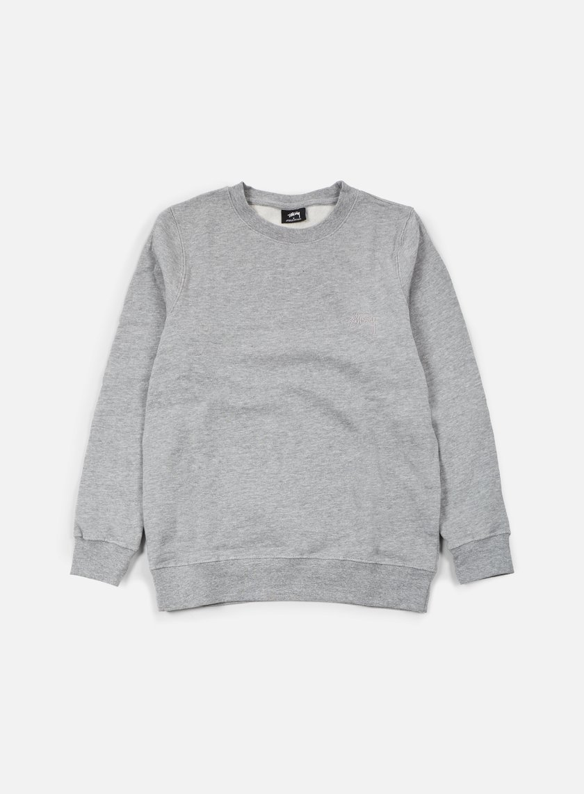 Stussy - Tonal Stock Crewneck, Grey Heather