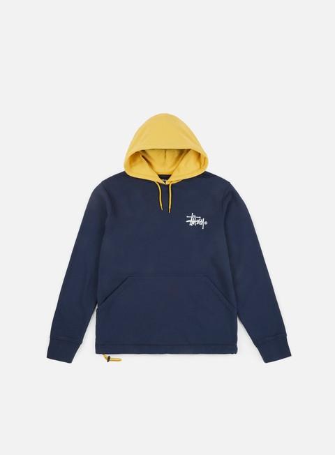 felpe stussy two tone hoodie dark navy