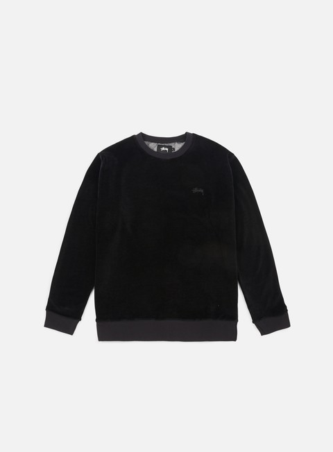 Sale Outlet Crewneck Sweatshirts Stussy Velour Crewneck