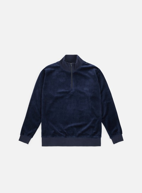 Sale Outlet Zip Sweatshirts Stussy Velour Zip Mock Neck