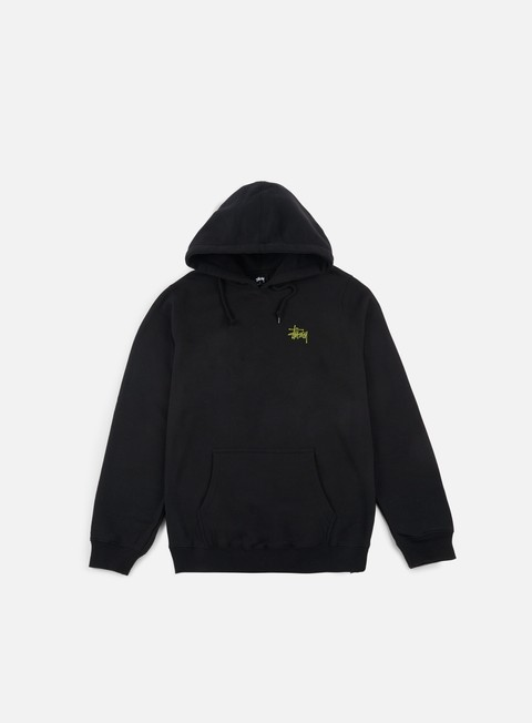 felpe stussy wmns basic stussy hoodie black army