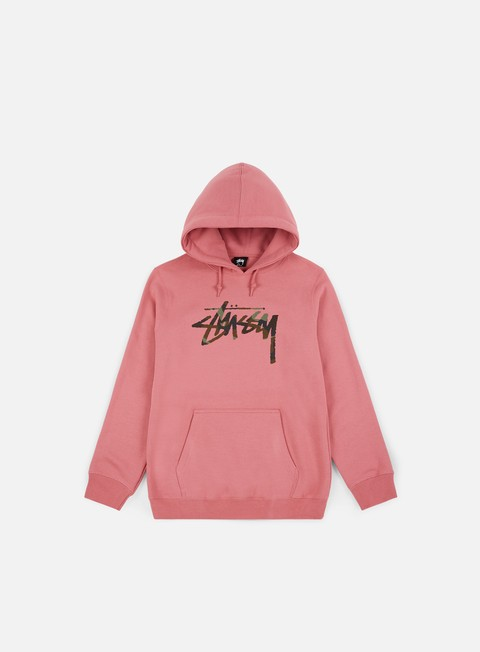 felpe stussy wmns camo stock hoodie orchid